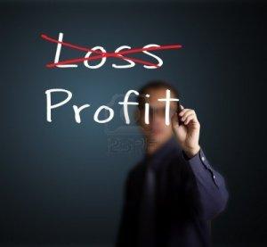 14369926-business-man-eliminate-loss-and-make-profit